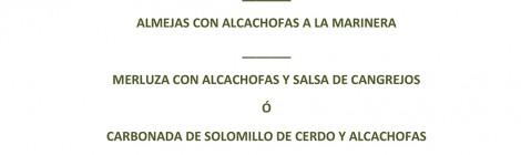 Menu de la Alcachofa 2014